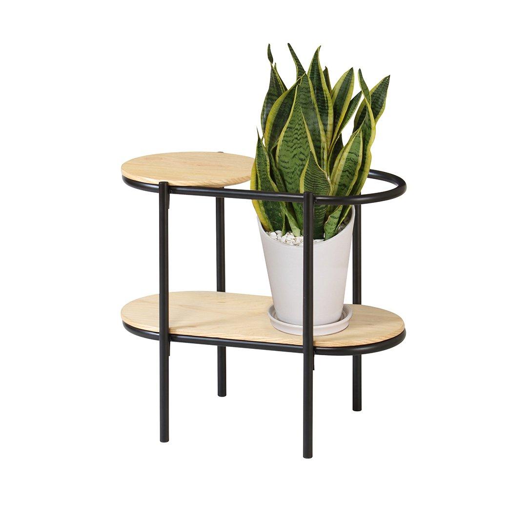LEAF-ST580(BK) LEAF SIDE TABLE