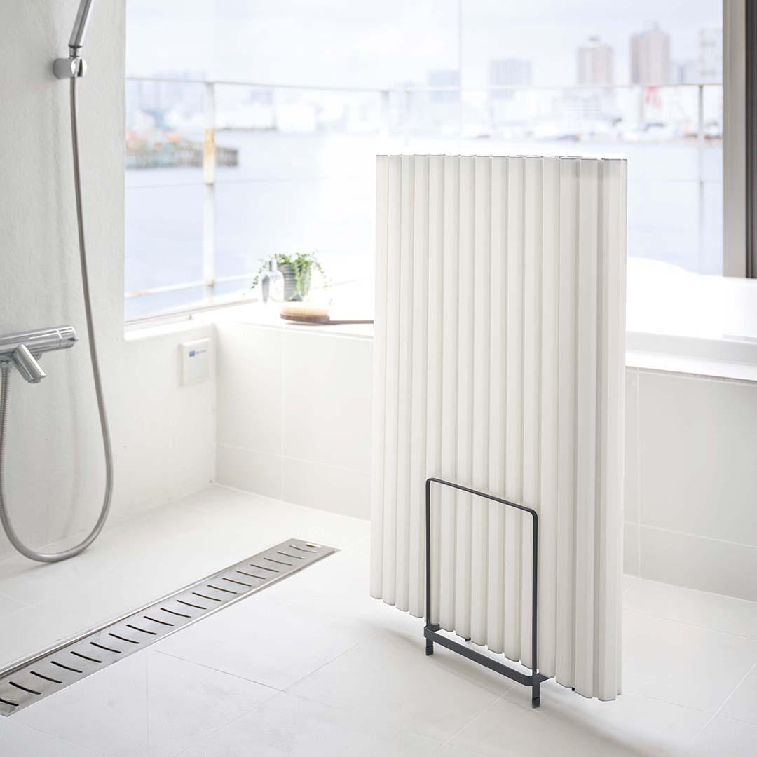 乾きやすい風呂蓋スタンド タワー ブラック