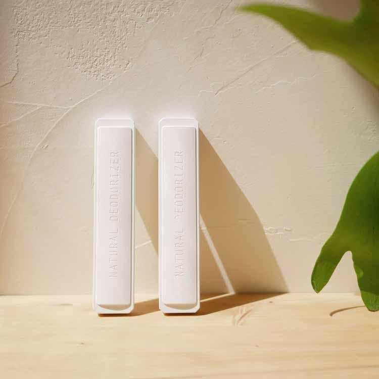 脱臭・調湿できる珪藻土スティック2P ホワイト