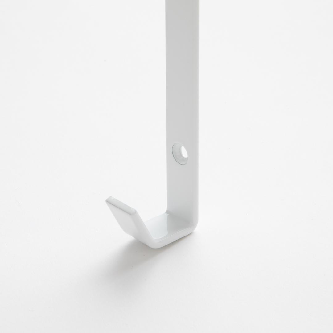 伸縮浴室扉前物干しハンガー タワー ホワイト