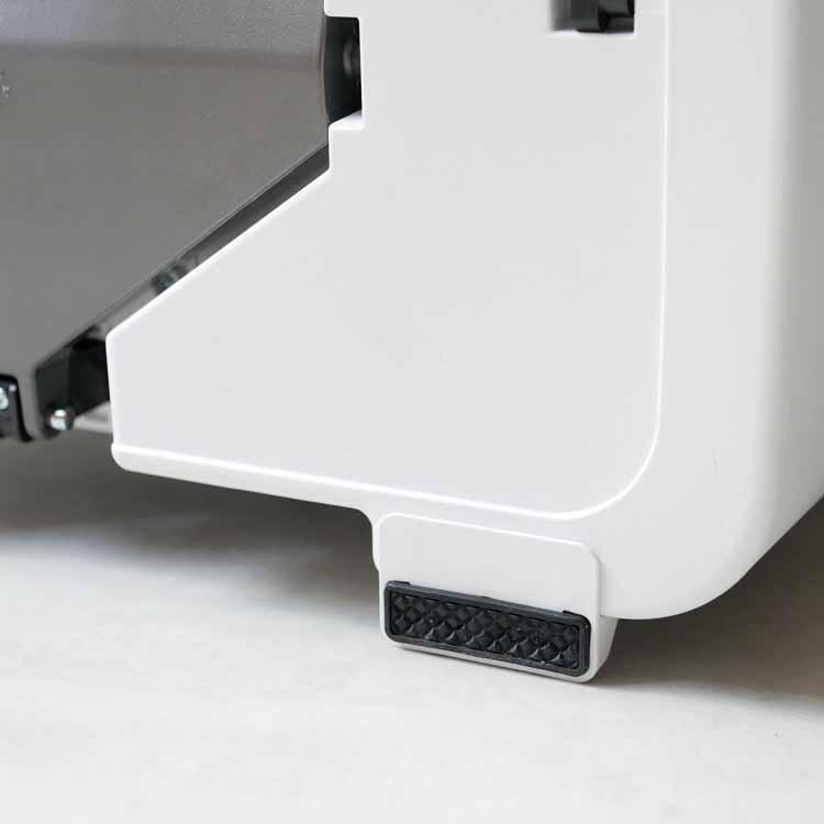 プラスチックレクタンギュラーステップカン 45L ホワイト