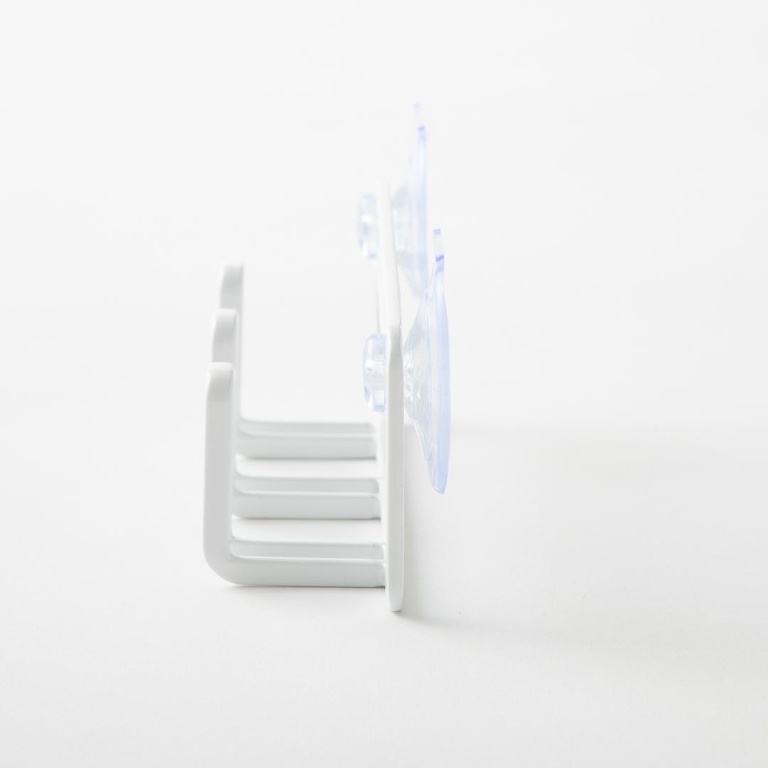 吸盤スポンジホルダー3連 タワー ホワイト