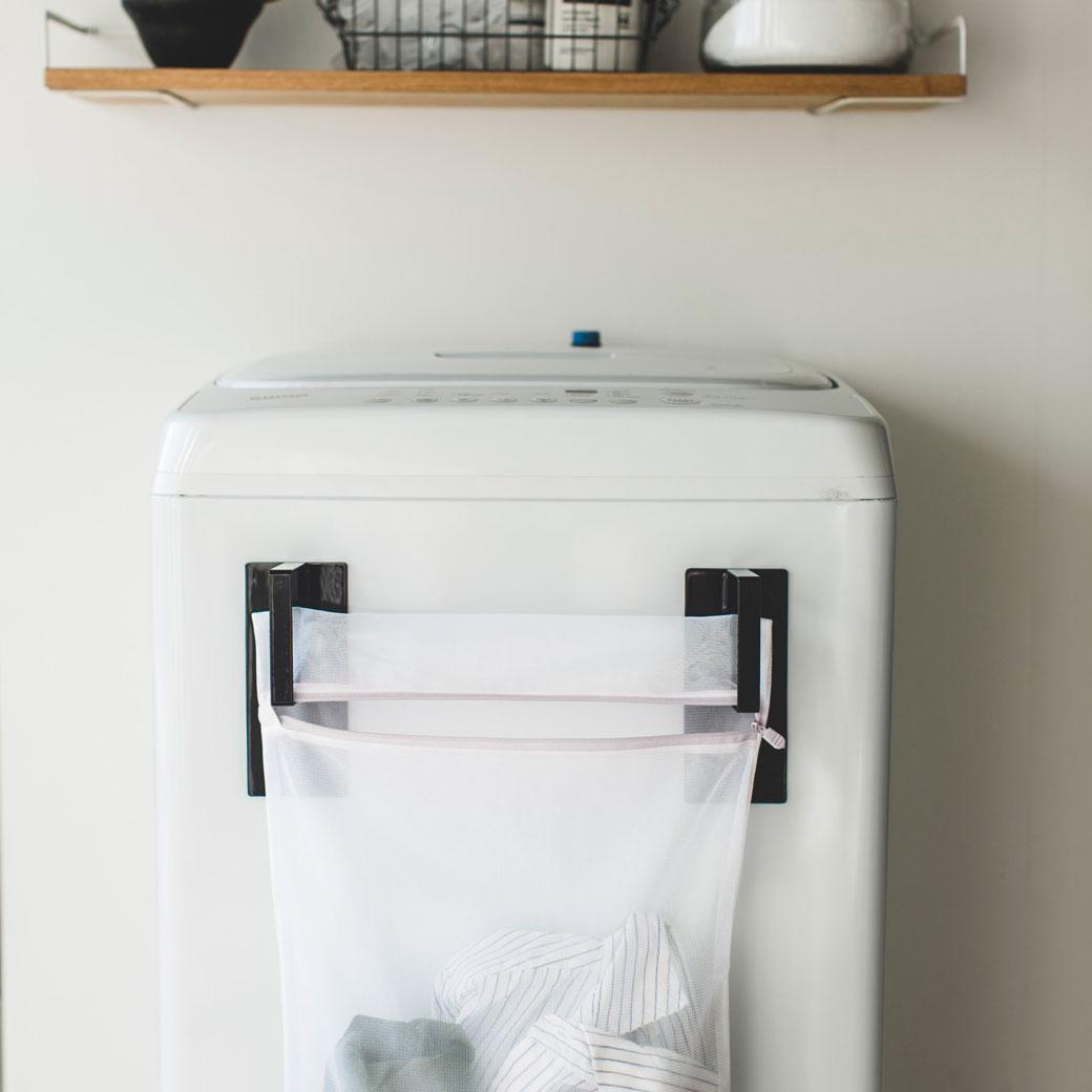 マグネット洗濯ネットハンガー タワー ブラック