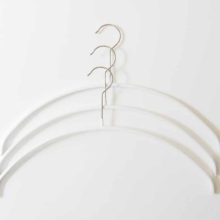 【MAWAハンガー】エコノミック 40 3本セット ホワイト