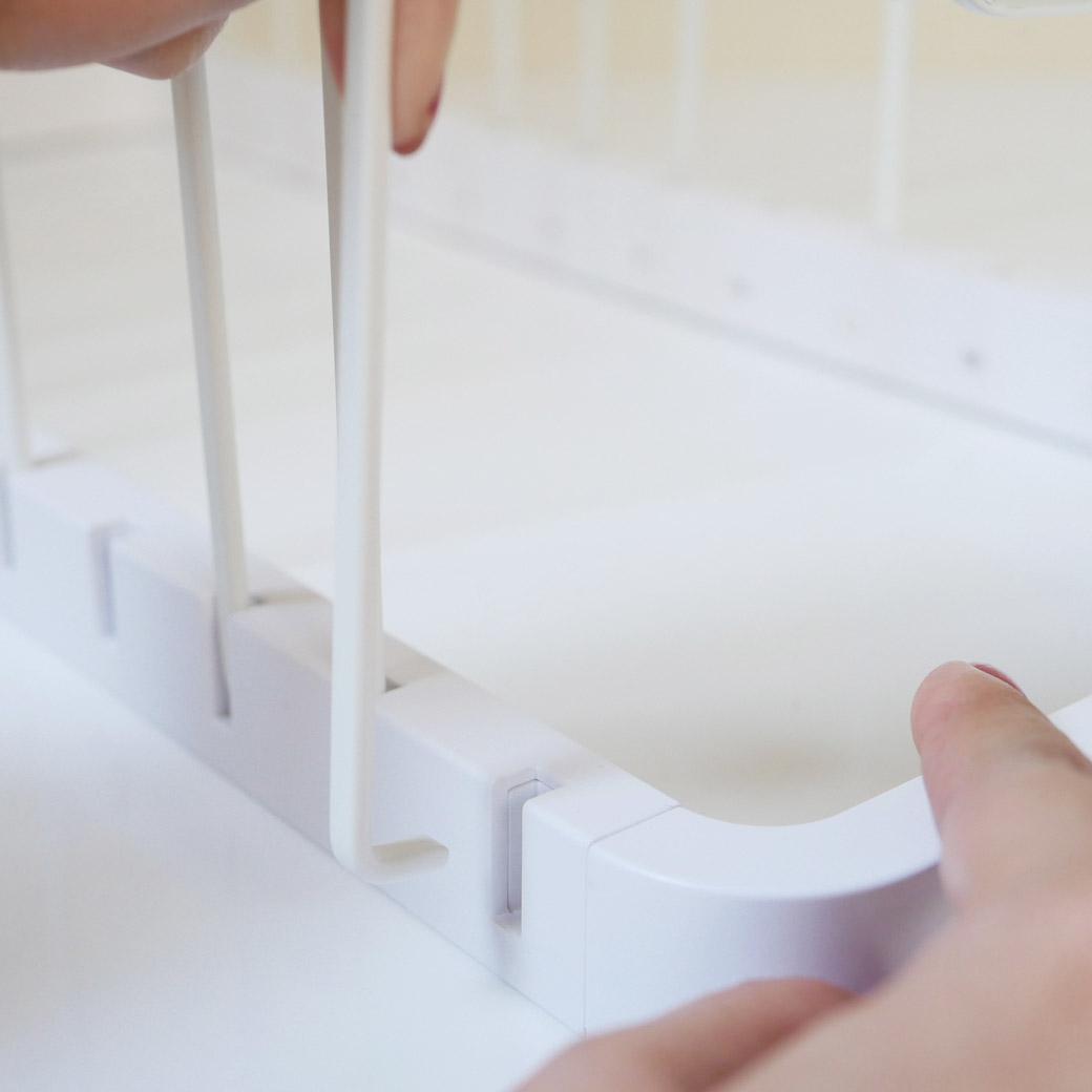 シンク下 伸縮鍋蓋&フライパンスタンド タワー ホワイト