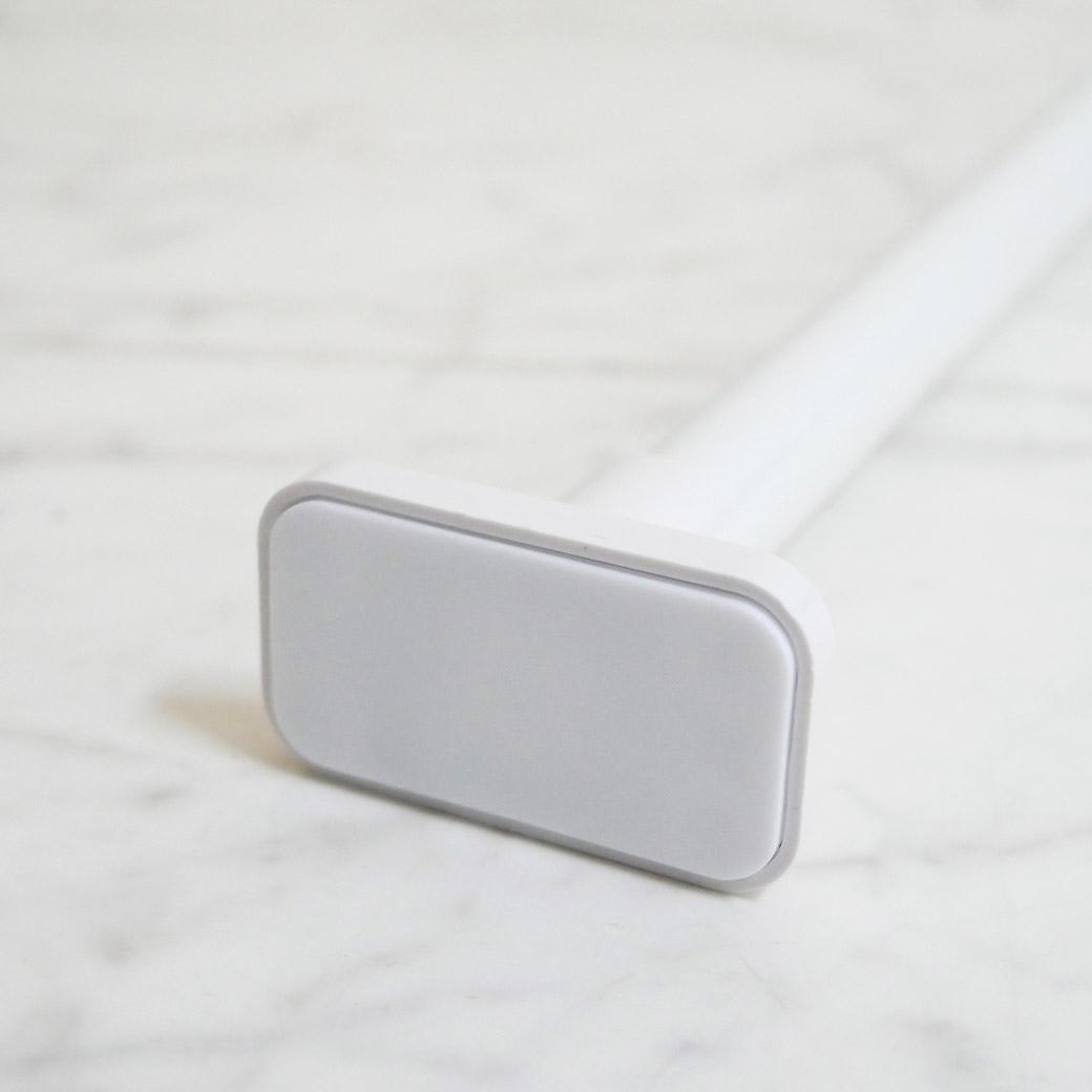 突っ張り伸縮2段ラック ハンガーパイプ付き ホワイト