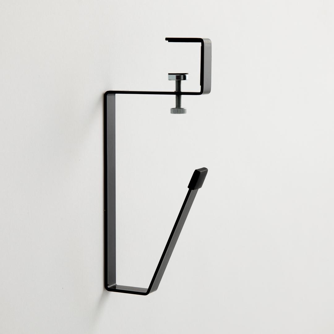 洗面戸棚下タンブラーホルダー タワー ブラック