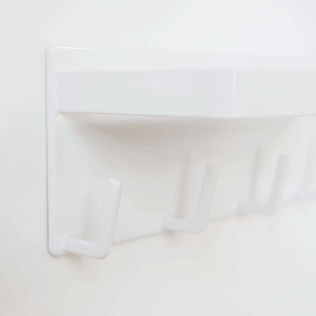 マグネットバスルームラック&フック ミスト ホワイト