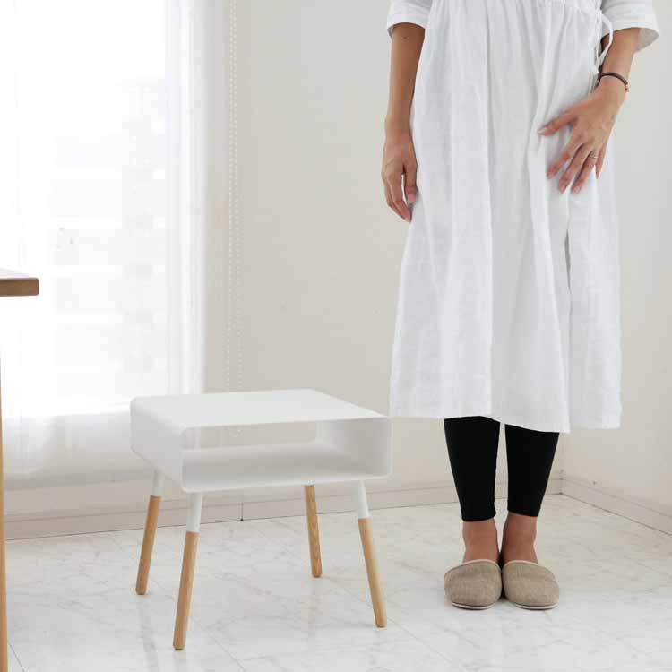 ローサイドテーブル プレーン ホワイト