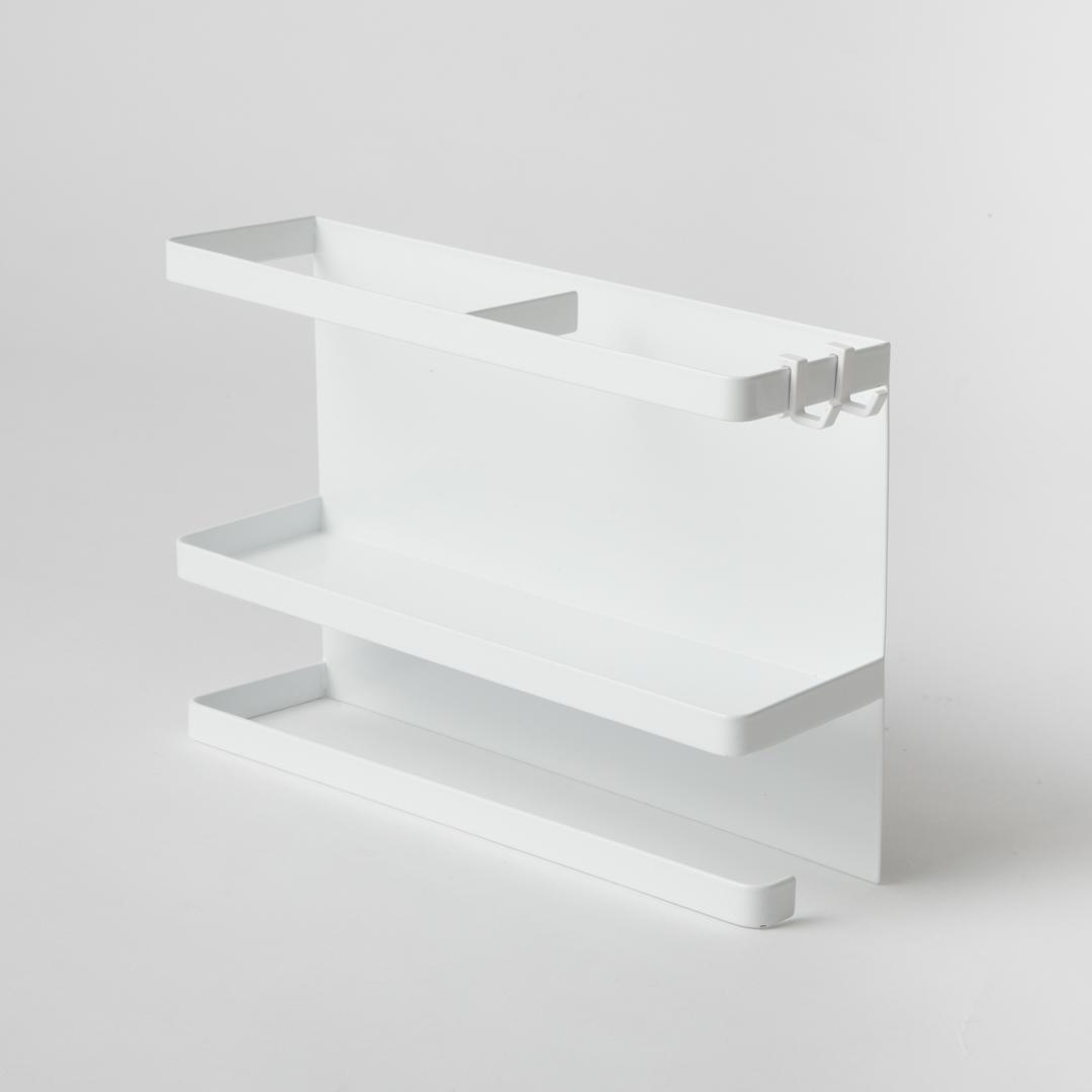 マグネットキッチンペーパー&ラップホルダー タワー  ホワイト