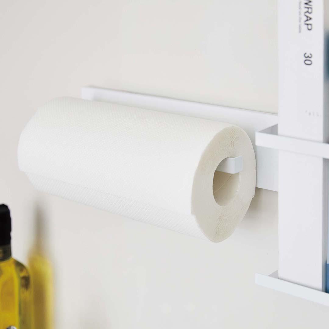 自立式メッシュパネル用 キッチンペーパーホルダー タワー ホワイト