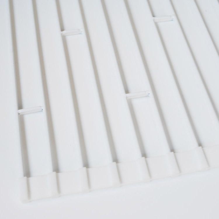 【tower】折り畳み水切りラック タワー L ホワイト