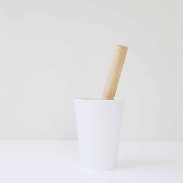 【tidy】コップ ロールクリーナー ホワイト