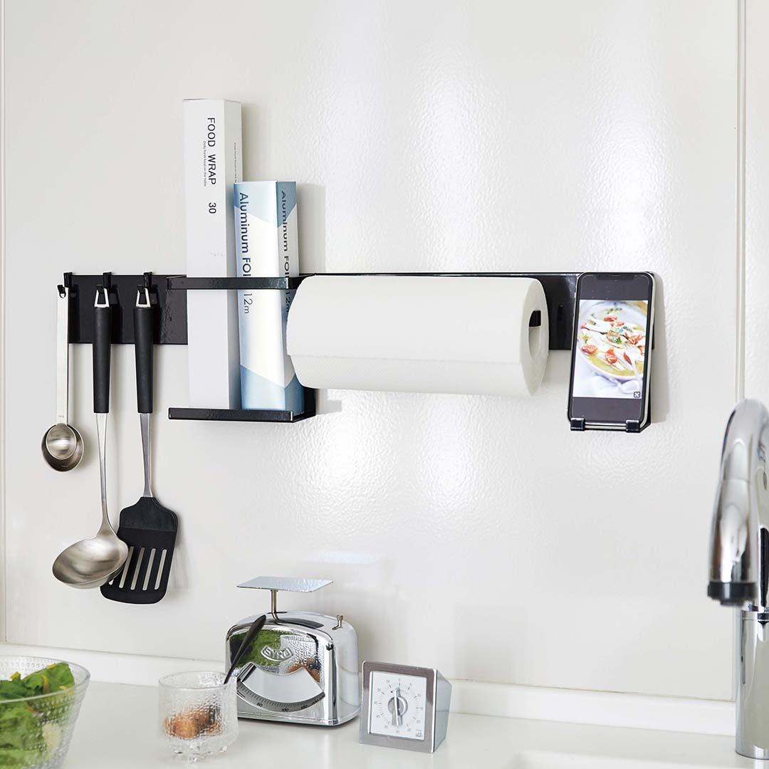 自立式メッシュパネル用 キッチンペーパーホルダー タワー ブラック