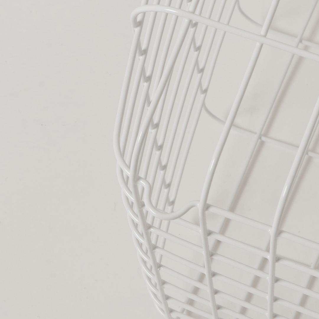 ランドリーワイヤーバスケット タワー M ホワイト
