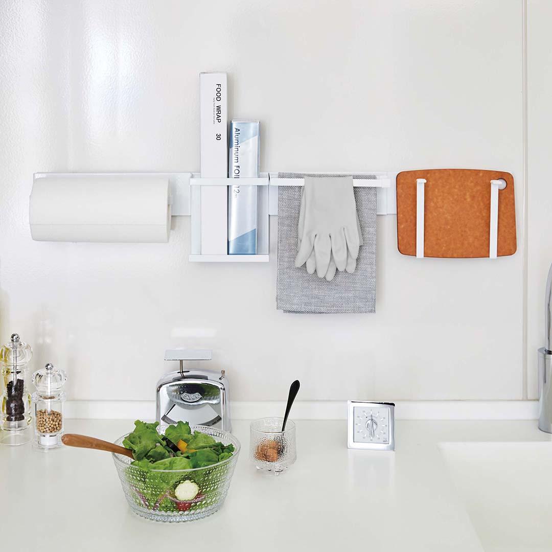 自立式メッシュパネル用 布巾ハンガー タワー ホワイト