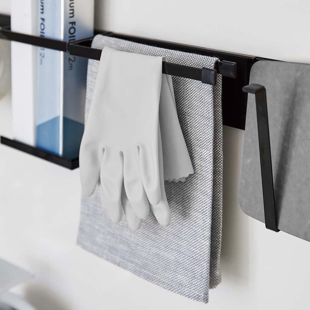 自立式メッシュパネル用 布巾ハンガー タワー ブラック