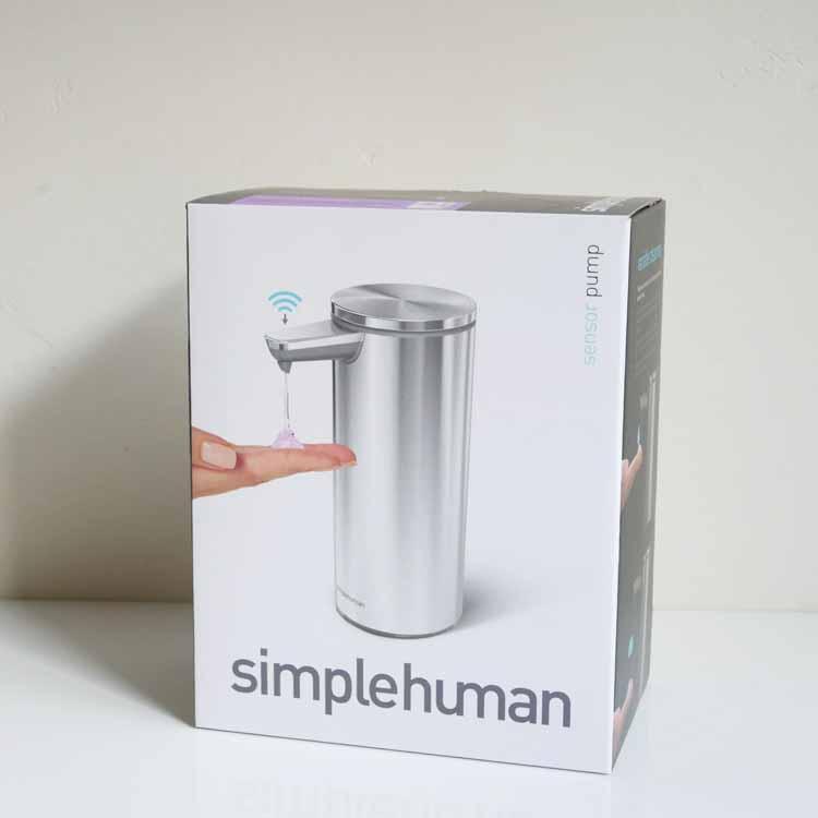 【simplehuman】センサーポンプ ブラッシュシルバー【メーカー直送:代引き不可商品】