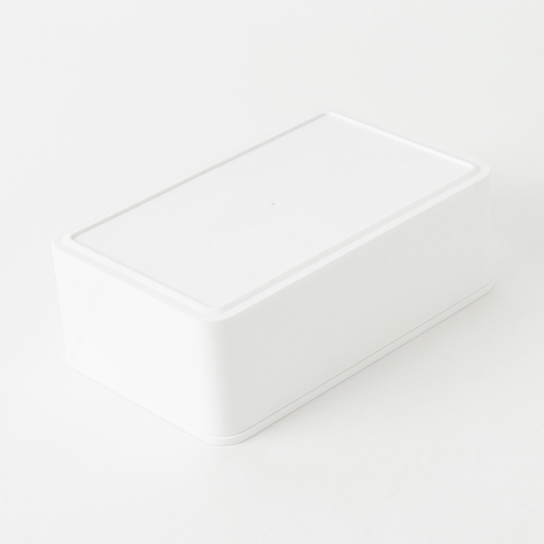 バルブ付き密閉バターケース タワー ホワイト