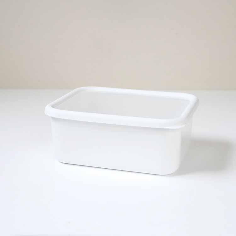 konte 深型角容器 【L】/リリーホワイト KE-DL・LW