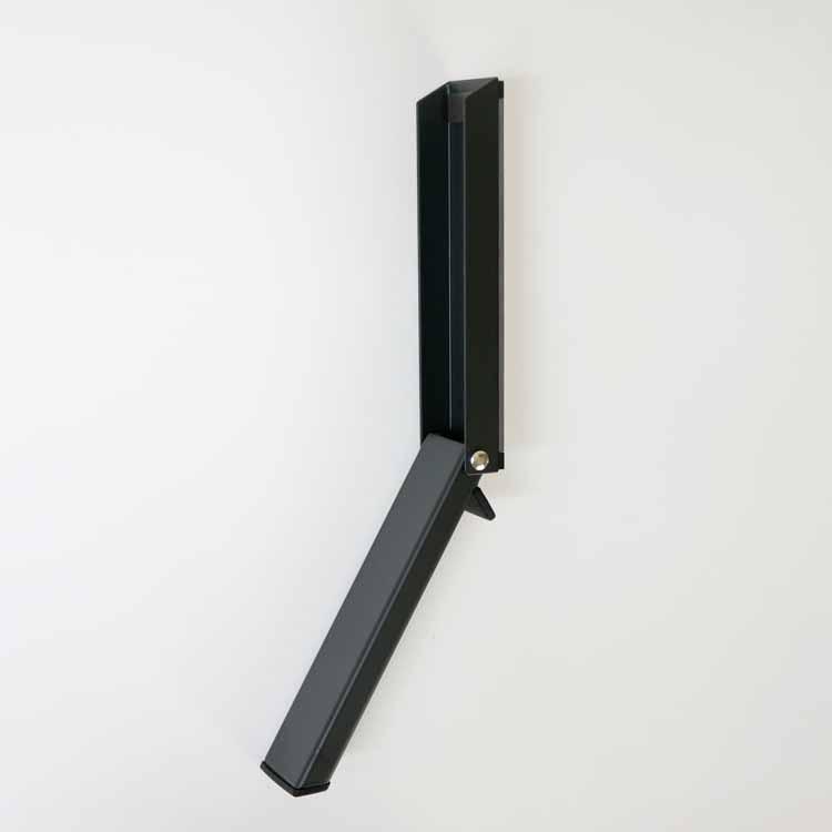 マグネット折り畳みドアストッパー スマート ブラック