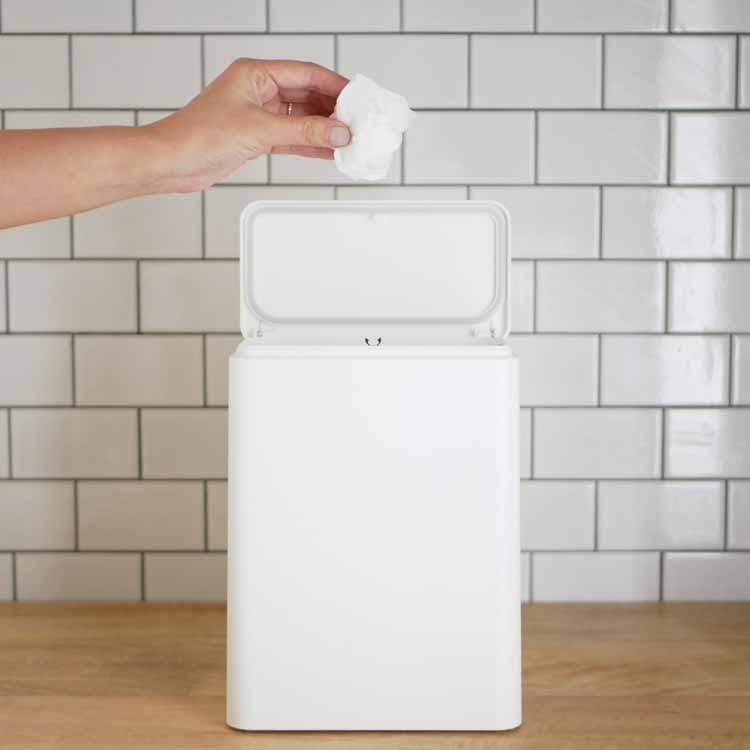 tubelor medium flap 密封容器型衛生ゴミ箱 ホワイト