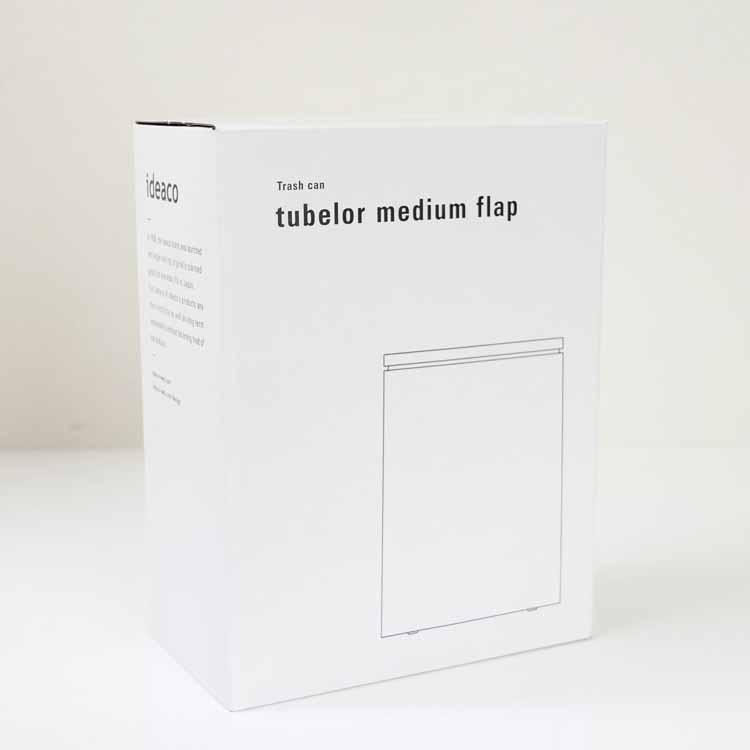 tubelor medium flap 密封容器型衛生ゴミ箱 サンドホワイト