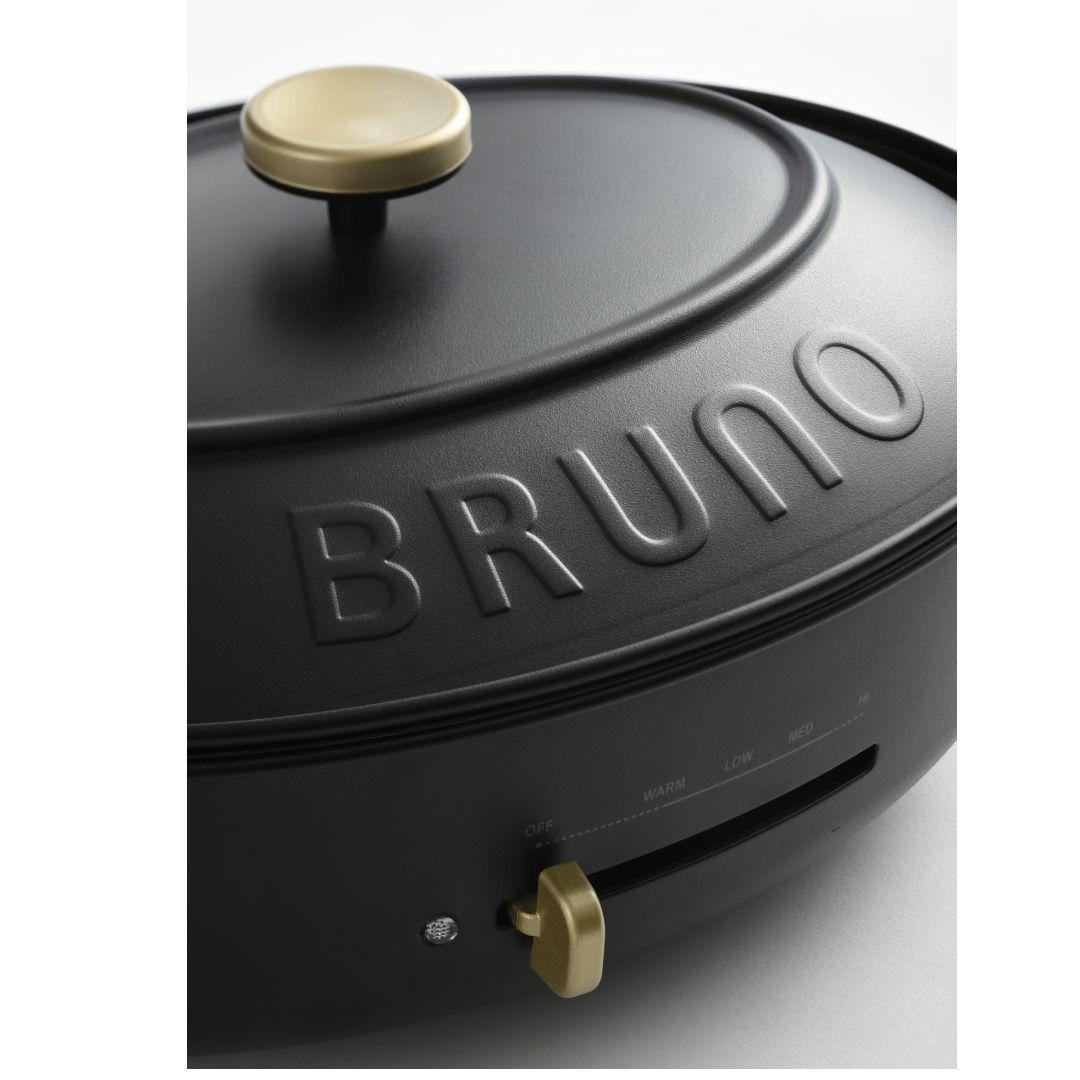 【予約販売10月下旬入荷予定】 【BRUNO】オーバルホットプレート ブラック