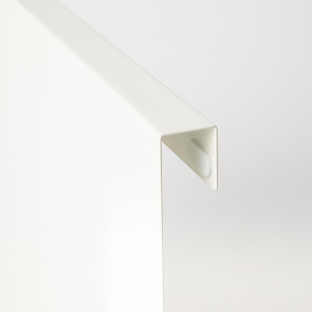 キッチンエンドパネル引っ掛け収納ホルダー タワー  ホワイト