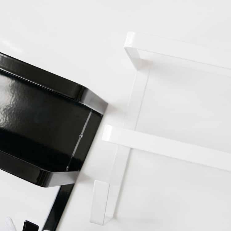 ホースホルダー付き洗濯機横マグネットラック タワー/ホワイト