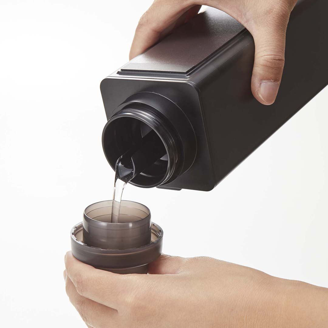 マグネット詰め替え用ランドリーボトル タワー ブラック