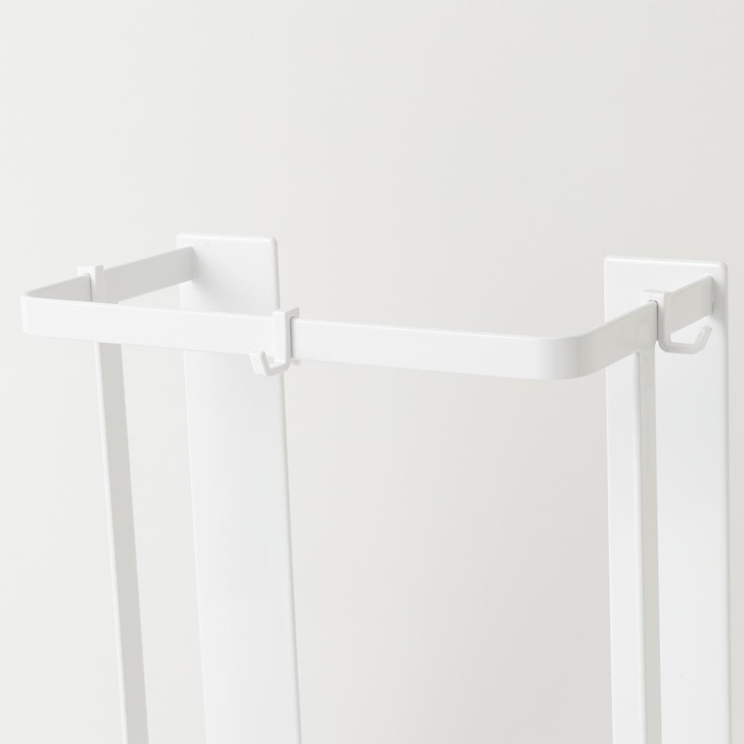 【予約販売2月下旬入荷予定】マグネットバスルーム折り畳み風呂蓋ホルダー タワー ホワイト