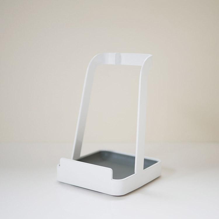 お玉&鍋ふたスタンドタワー ホワイト