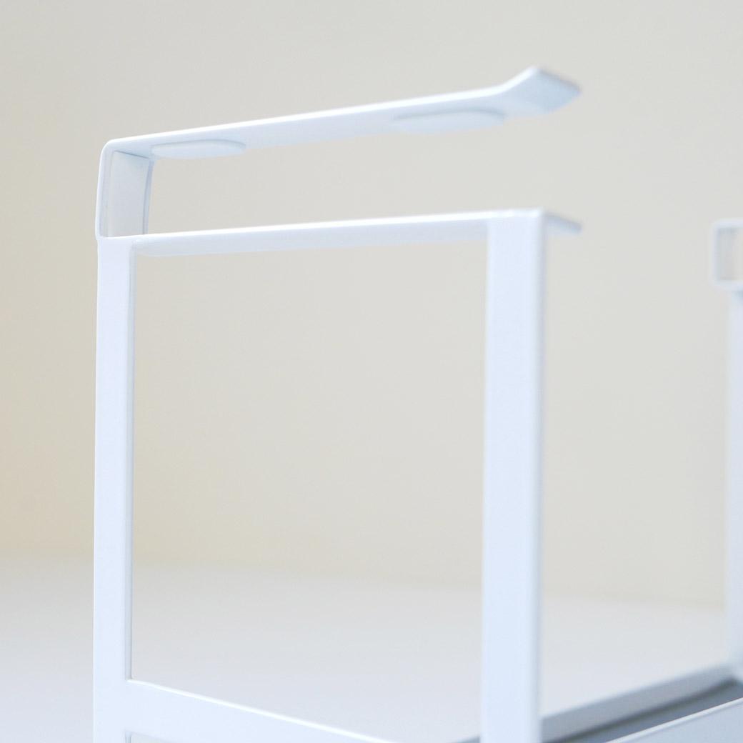 戸棚下調味料ラック タワー ホワイト