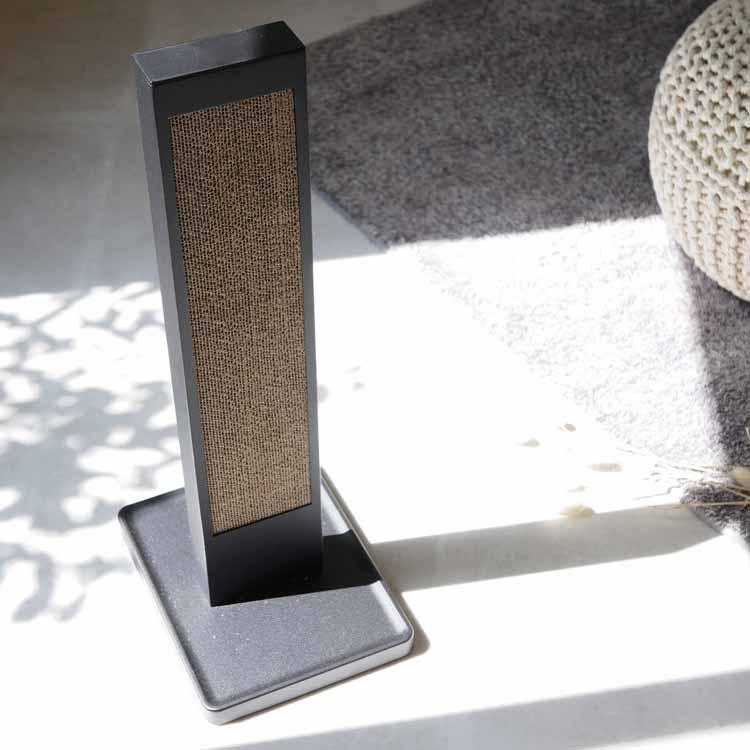 猫の爪とぎスタンド タワー ブラック