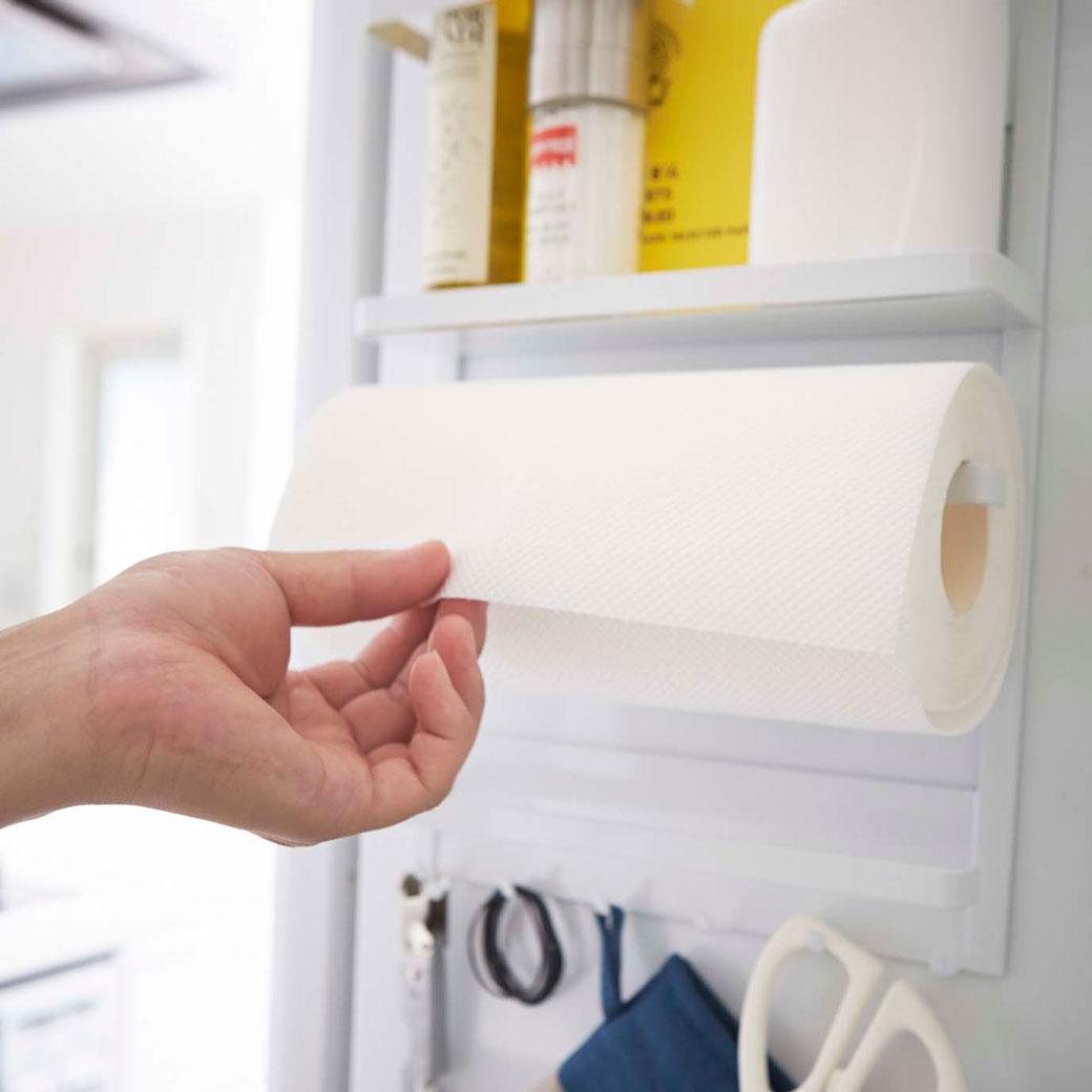 マグネット冷蔵庫サイドラック タワー ホワイト