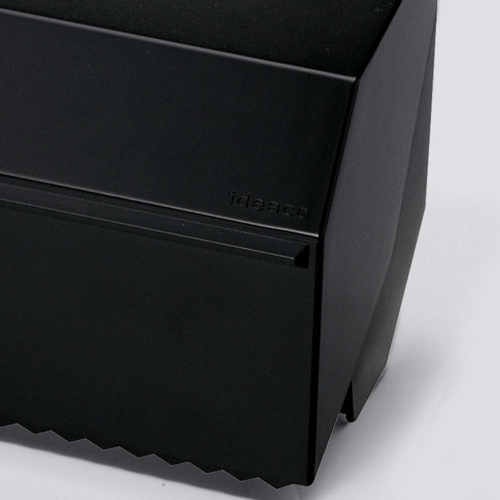 【ideaco】マグネット付きキッチンタオルディスペンサー ブラック