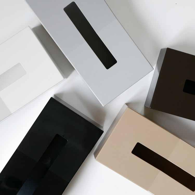 【DUENDE】縦置きティッシュスタンド /ホワイト