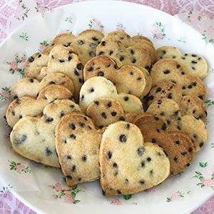チョコチップクッキー ハート型 20枚×3回分