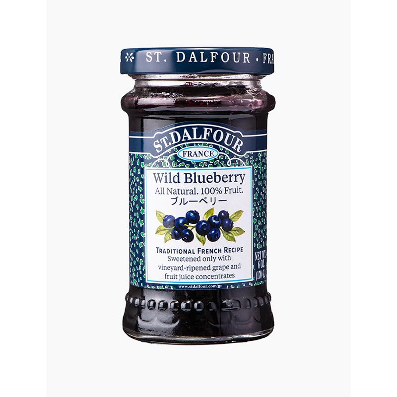 サンダルフォー ジャム ブルーベリー 170g ST.DALFOUR フルーツ100% 砂糖不使用 保存料不使用