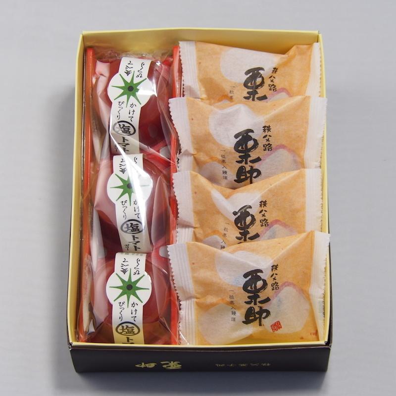 塩トマトゼリーと【人気ナンバー1和菓子】栗助