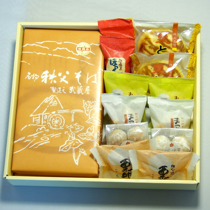 ちちぶセット (和菓子・秩父そば)