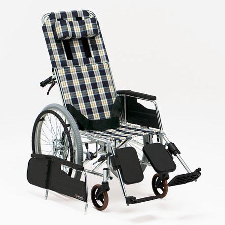 アルミ製 リクライニング式 自走用車いす MW-13