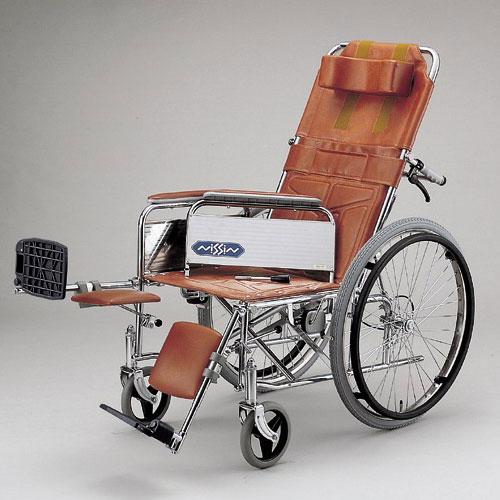 スチール製 リクライニング式 自走用車いす ND-15