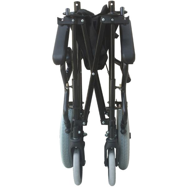 携帯型 介助用簡易車いす ハンディライト100[シート幅45cm]【おでかけ充実セット 杖・傘兼用ホルダー付】