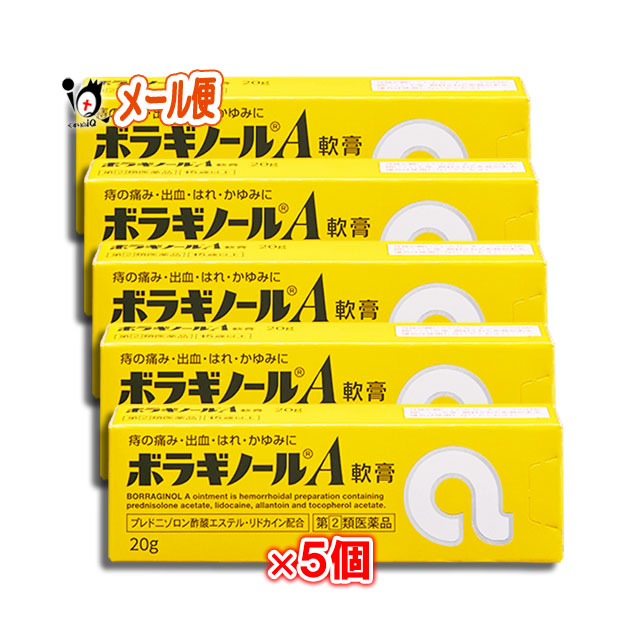 【指定第2類医薬品】ボラギノールA軟膏 20g(ステロイド配合) ×5個セット 【天藤製薬】