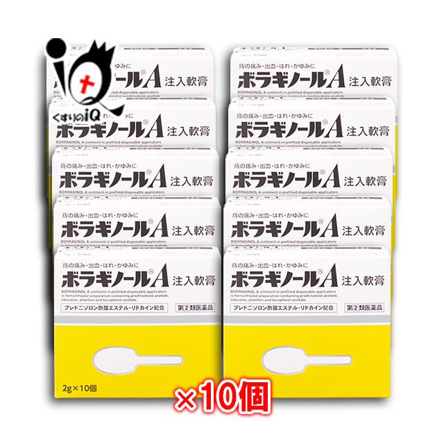 【指定第2類医薬品】ボラギノールA注入軟膏 2g×10個入 ×10箱セット【天藤製薬】