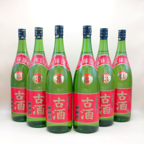 珊瑚礁3年古酒 43度 1800ml(一升瓶) お得!まとめ買い6本セット
