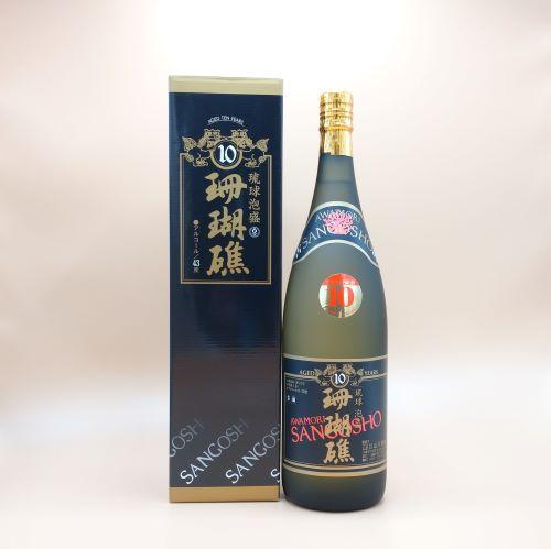 珊瑚礁10年古酒 43度 1800ml(一升瓶) お得!まとめ買い6本セット