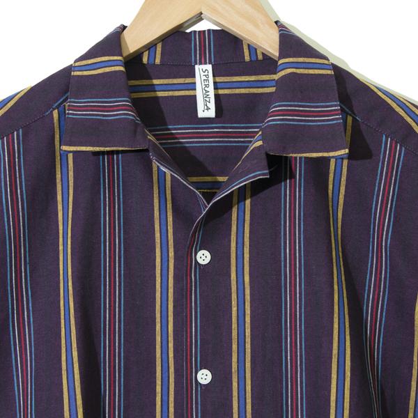 フロントポケット ボーリングシャツ PURPLE